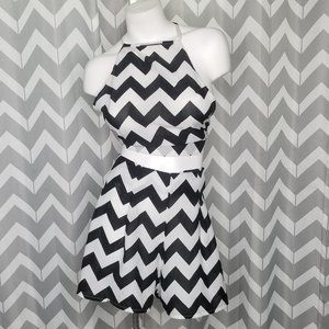 ZARA chevron 2 piece chevron set